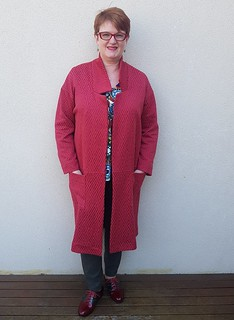 Style Arc Parker coat in knit from The Remnant Warehouse | by thornberry