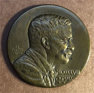 1920 Theodore Roosevelt Founders Medal obverse | by Numismatic Bibliomania Society