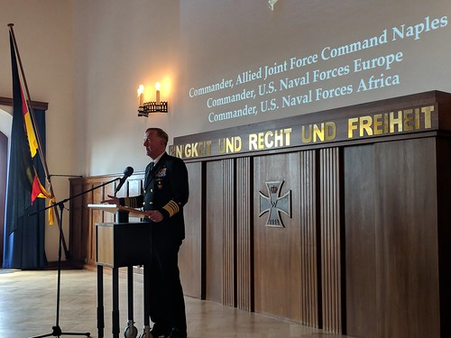 ADM Foggo at German Naval Academy 17 Aug 18 | by CNE CNA C6F