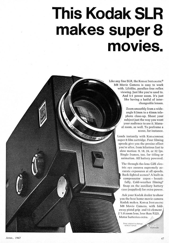 kodak instamatic m8 movie camera advertisement 1967 april flickr rh flickr com