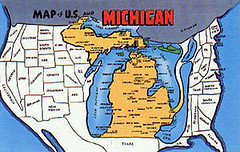 Map Of Us And Michigan Color Pictures Also Produced Tall Flickr - Map-of-us-michigan