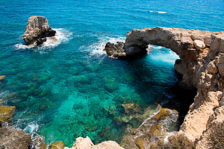 Bridge of love view from the cliff - Cyprus | by Palnick