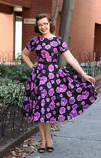 Purple roses and spiderwebs dress | by polka.polish