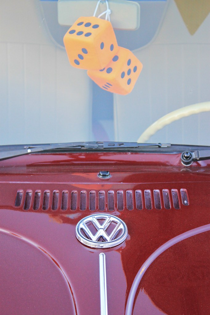 Fuzzy Dice Fuzzy Dice In A Vw Bug At The Pony Corral Win Flickr