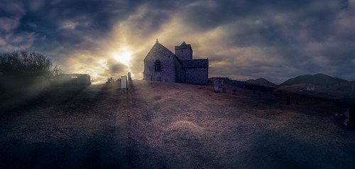 Rodel Church sunset panorama | by The Unexplored