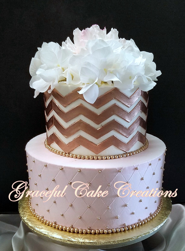 Pink And Rose Gold Baby Shower Cake Grace Tari Flickr