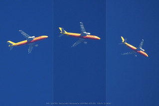 backyard flyby 01 | by planes, moon, nature