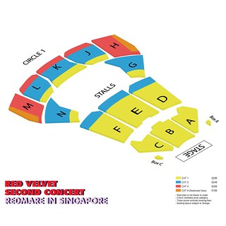 Red Velvet 'REDMARE' Concert in Singapore Seating Plan | by sgXCLUSIVE