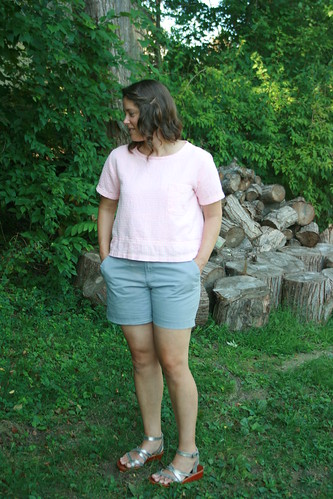 A Boxy Woven T-Shirt:  Butterick 5948 | by patternandbranch
