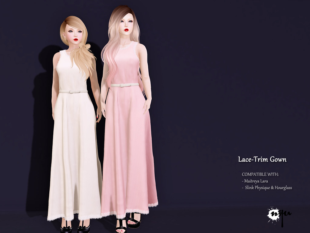 Lace-Trimmed Gown   Available @ Au Lovely event now! Gown co…   Flickr