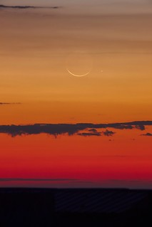 waning crescent rising with mercury | by SteedJoy
