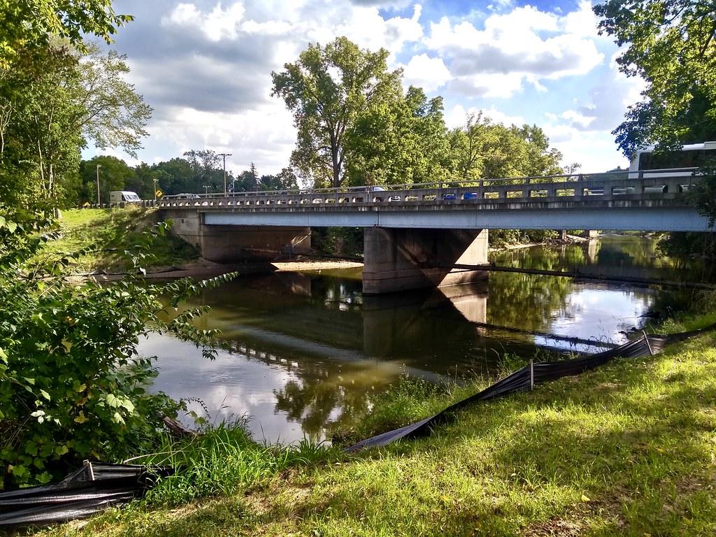 Thornapple River Dr  Bridge | (North Side): Along the Thorna