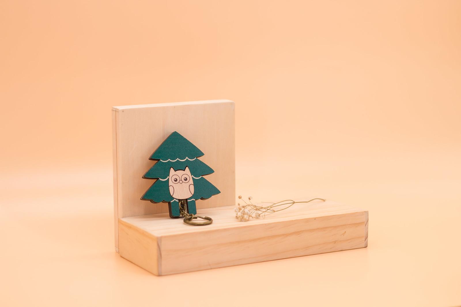 鑰匙圈 客製化 禮物 特色產品 居家 台灣設計 生日 情人節 動物 療癒 貓頭鷹 鳥 聖誕節 收納 裝飾 吊飾 送禮 中性 木 楓木 胡桃木 鑰匙