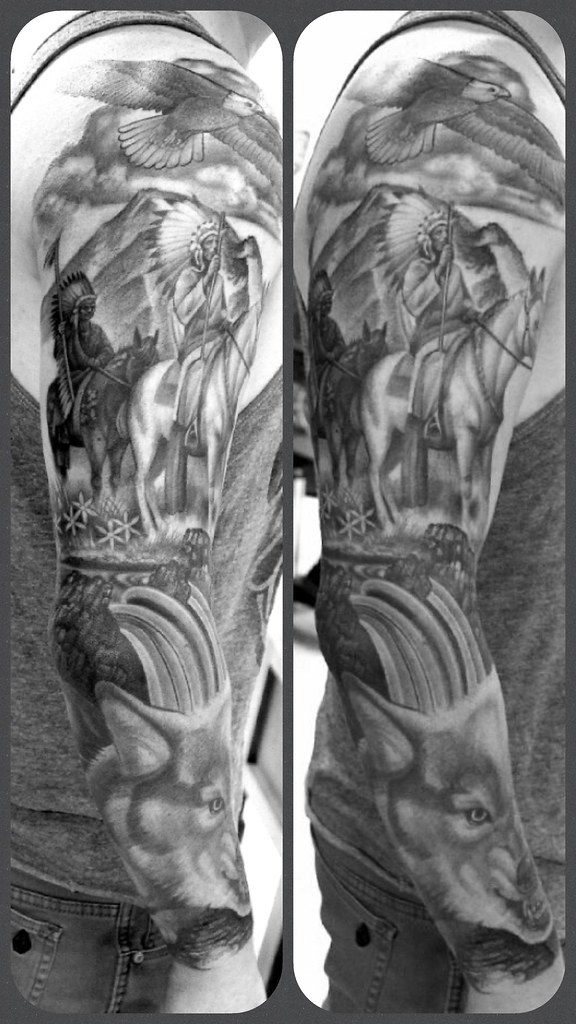 Native American Sleeve Ozzy Borneo Flickr