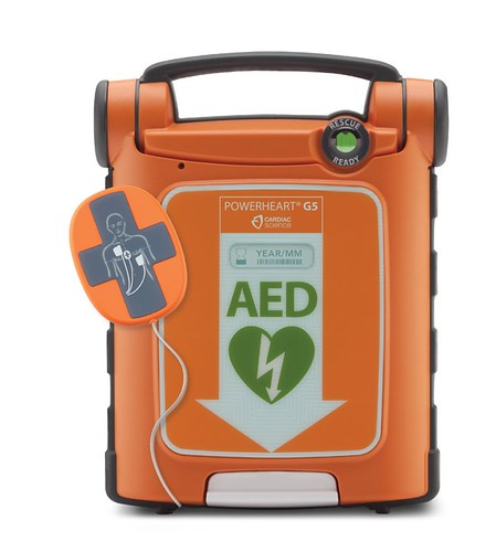 Powerheart® G5 Automated External Defibrillator (AED) with Intellisense CPR Feedback | by Wisconsin Manufacturers & Commerce