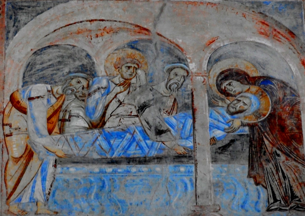 jesus christ s burial fresco 1072 1087 by unknown pa flickr