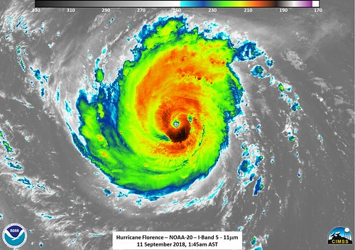 NASA-NOAA's Suomi NPP Observes Hurricane Florence in Infrared | by NASA Goddard Photo and Video