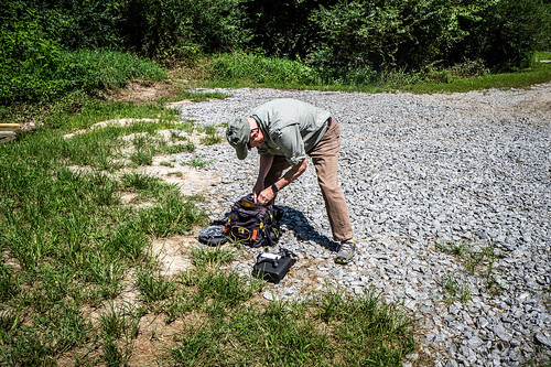 Jim Leavell with Drone at French Broad River | by RandomConnections