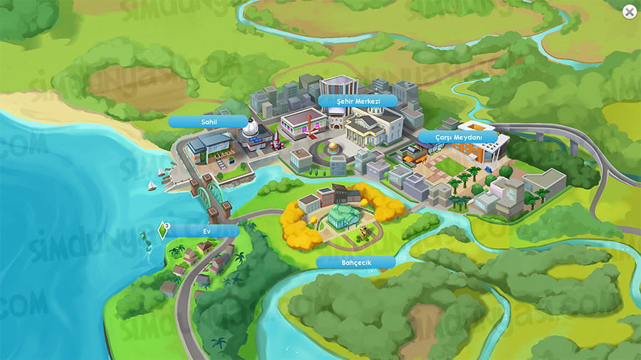 The Sims Mobile Sürüm 12 Waterfront Sahil Bilim Zindelik Merkezi