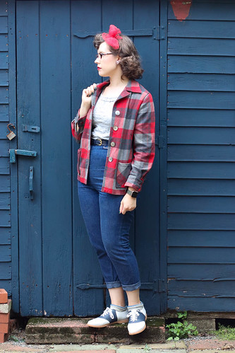 Casual jeans & Pendleton 49er outfit | by polka.polish