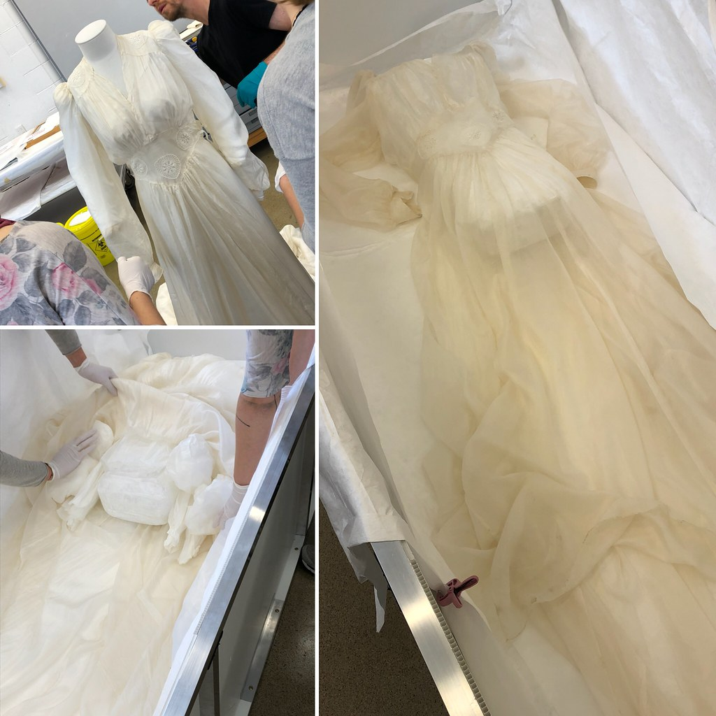 Delicate job taking 2.5 hours. Removing silk wedding dress… | Flickr