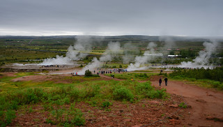 Steam from Geysers along the Golden Circle - Bláskógabyggð Iceland | by mbell1975