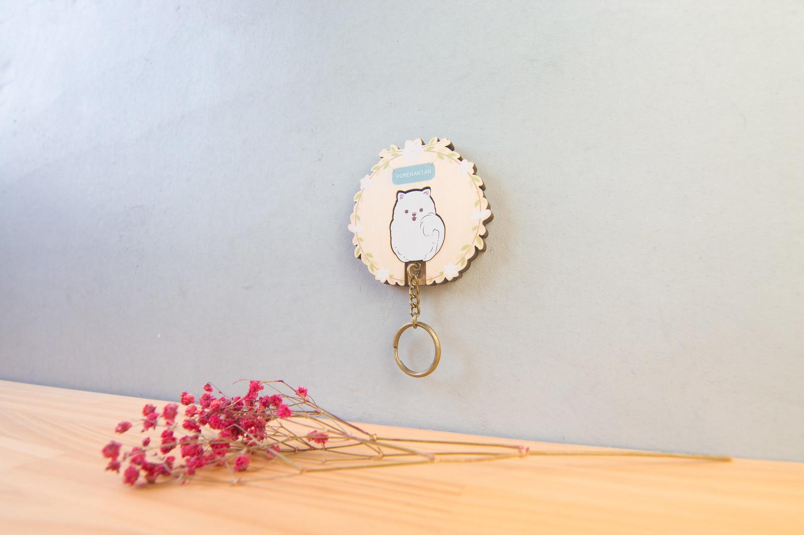 鑰匙圈 客製化 禮物 特色產品 居家 台灣設計 生日 情人節 動物 狗 寵物 吉祥物 療癒 聖誕節 收納 裝飾 吊飾 送禮 中性 木 楓木 胡桃木 鑰匙