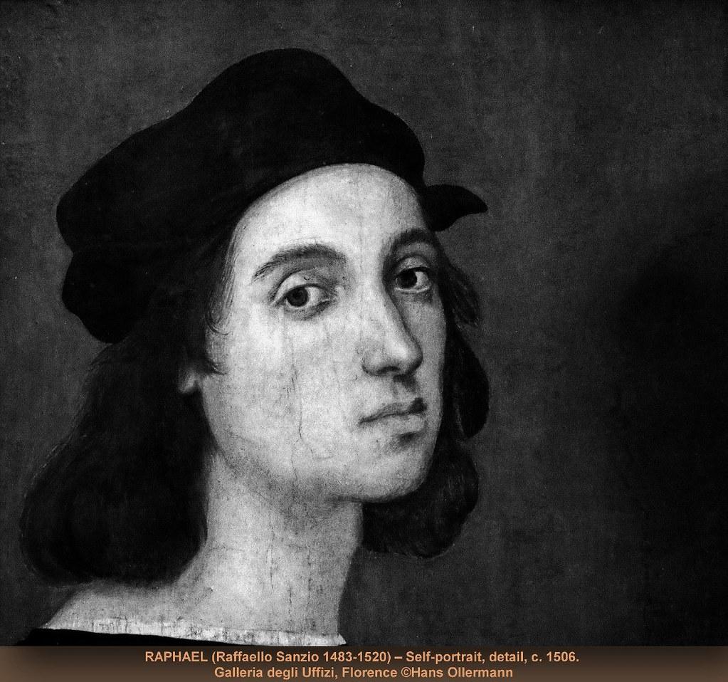 ... c RAPHAEL (Raffaello Sanzio 1483-1520) – Self-portrait, detail, c