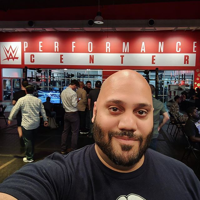 Just spent the day at the @WWE Performance Center, and hav