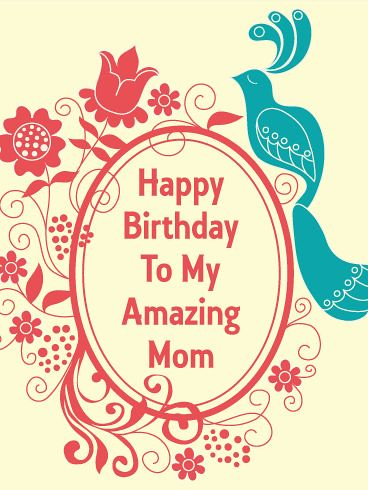 Best Birthday Quotes Blue Bird Birthday Card For Mom Th Flickr