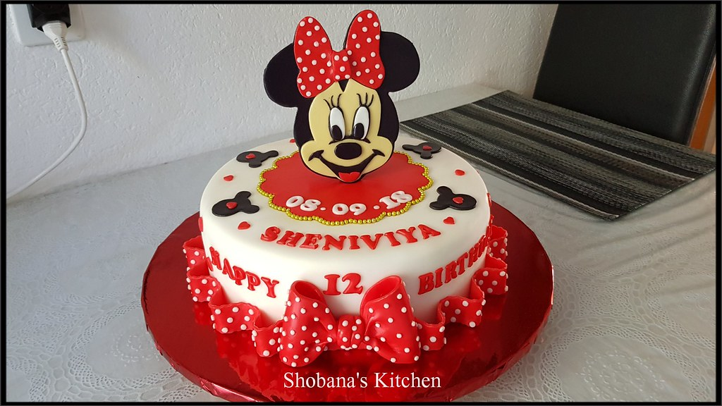 Micky Mouse Cake 12th Birthday Cake Shobana Shanthakumar Flickr