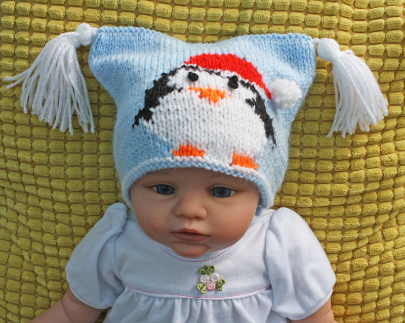 3A Christmas Penguin Teabag Hat | Knitting pattern | Pizpaw Patterns ...
