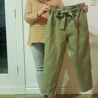 Style Arc Tully pants in linen | by thornberry
