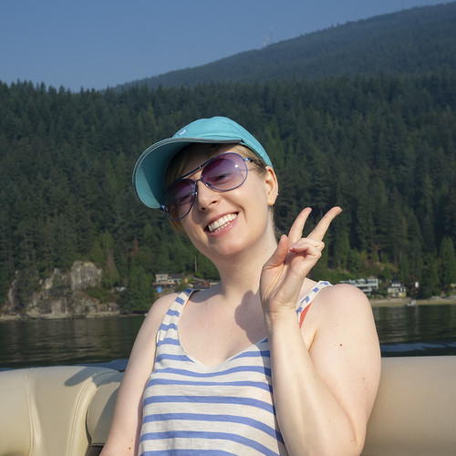 Shari on a boat! | by northways