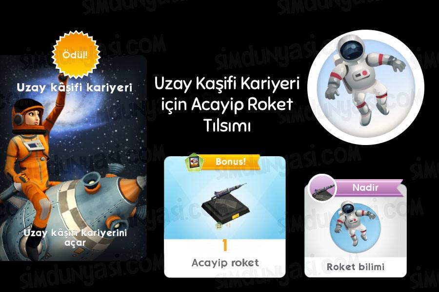The Sims Mobile Uzay Kaşifi Kariyeri Serüveni
