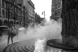Misting fountain, Mount Street, London | by chrisjohnbeckett