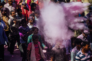 Gulal Explosion, Holi in Vrindavan India | by AdamCohn