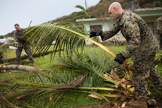Assists cleaning debris in Rota after Typhoon Mangkhut, Commonwealth of the Northern Mariana Islands | by #PACOM