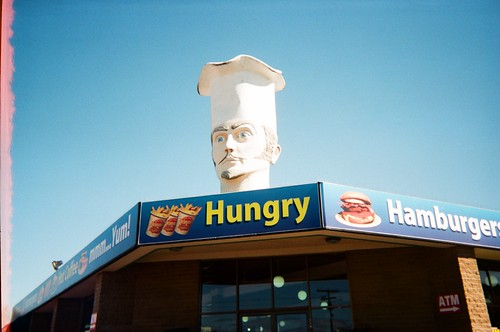 Chef's Head; Sign - Hungry (photo 2) | by Matthew Paul Argall