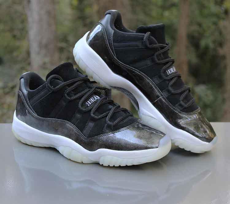 best service 2da70 779ac Nike Air Jordan 11 Retro Low Barons 528895-010 Black Silve ...