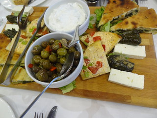 Mezze board - Hors d'oeuvres at the Hotel Panorama, Krujë | by Mary Loosemore