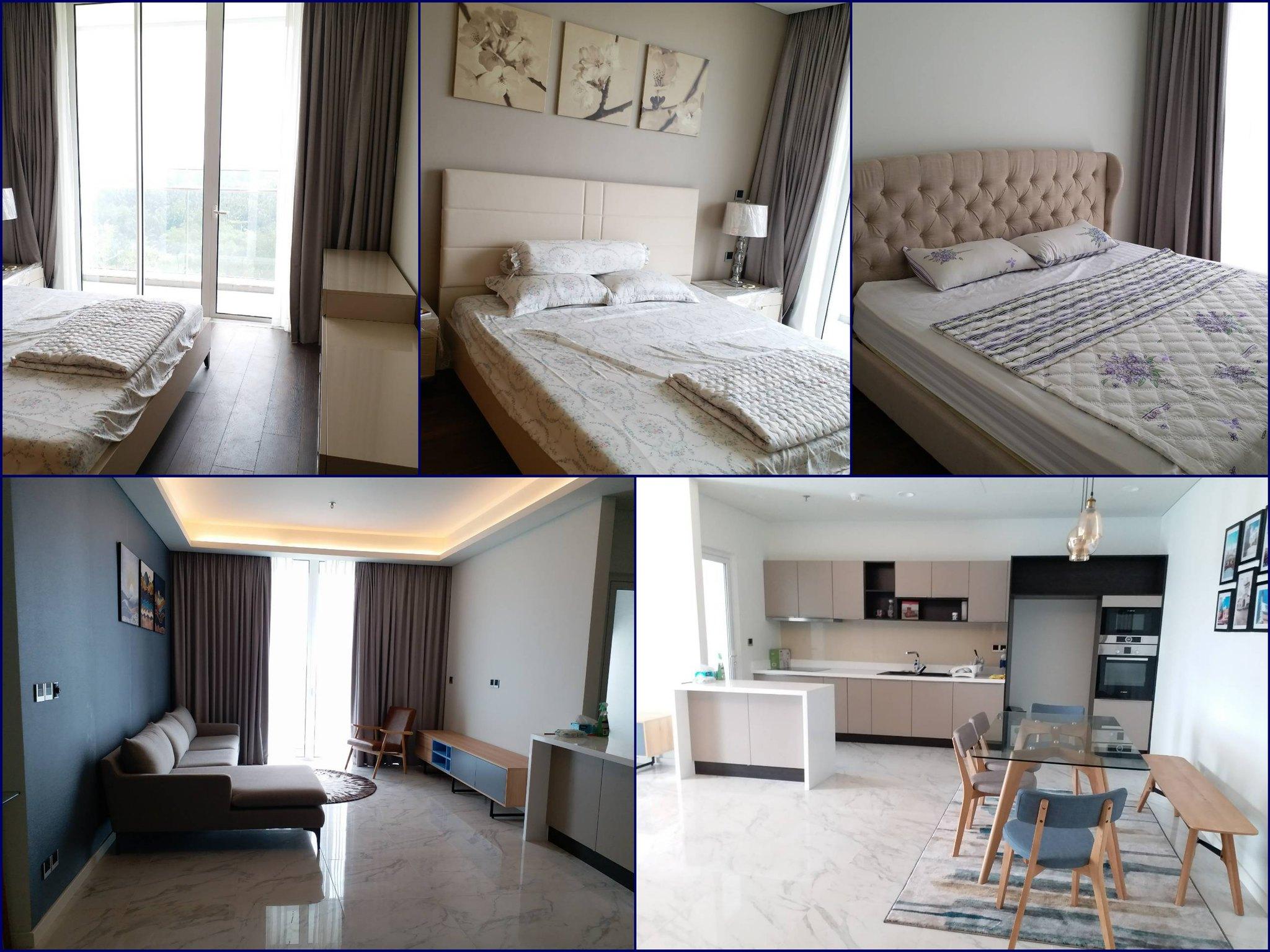 Hình ảnh thực tế căn hộ 3 phòng ngủ Sarica cho thuê