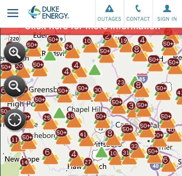 Power Outage Map Al.Nc Power Outage Map Yes We Lost Power Too Via Facebook Flickr