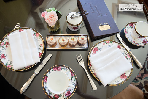 Table set for two with Wedgewood china | by thewanderingeater