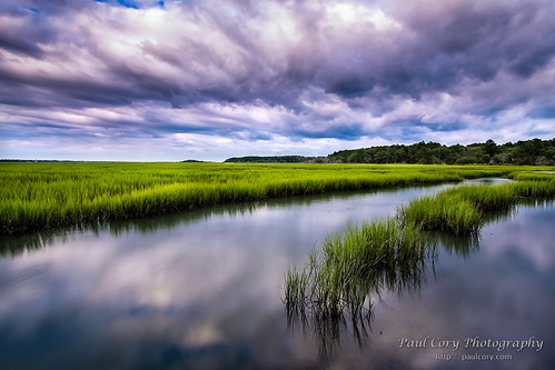 Clouds and Salt Marsh | by Paul Cory