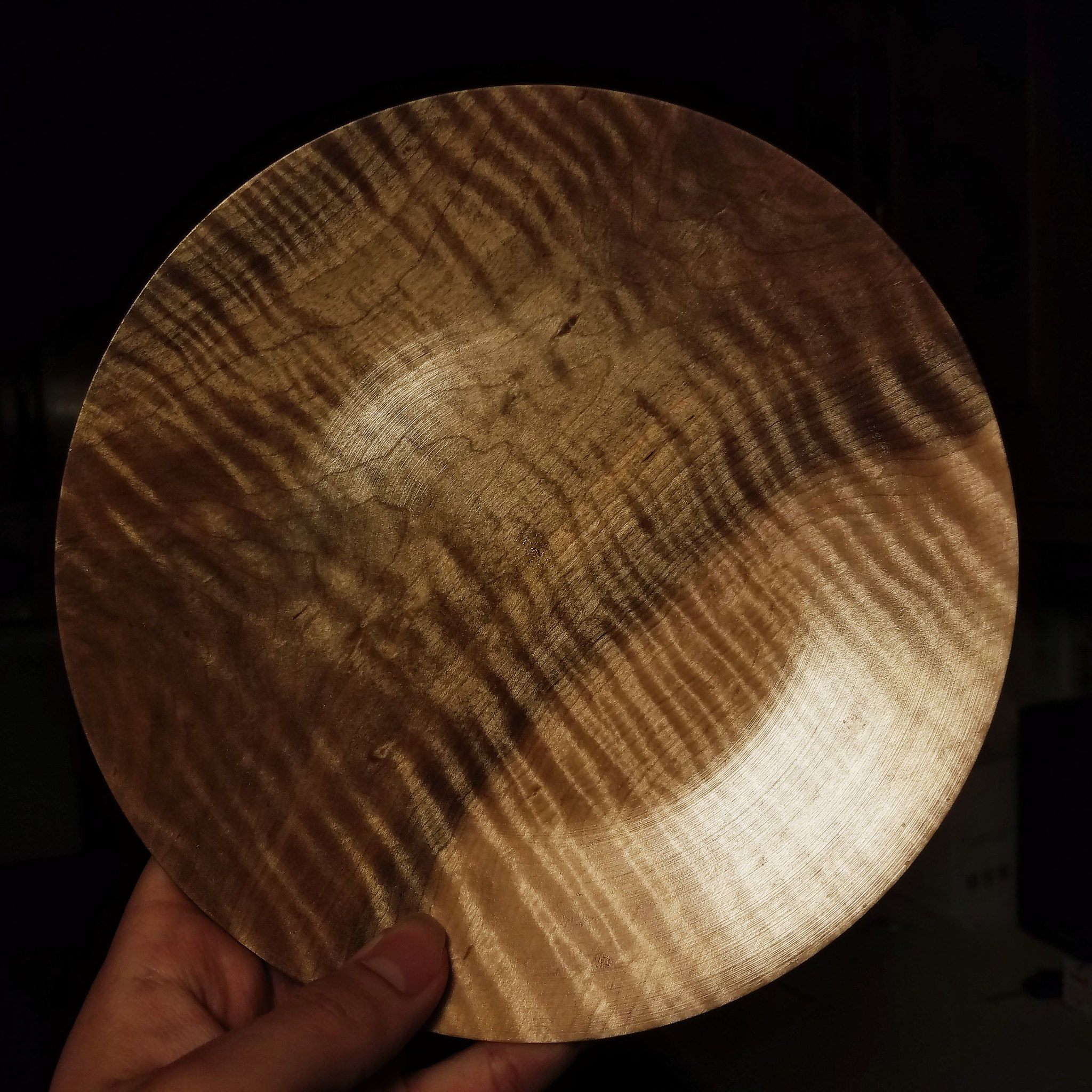 Curly Maple plate! Finished with 3+ coats of tung oil