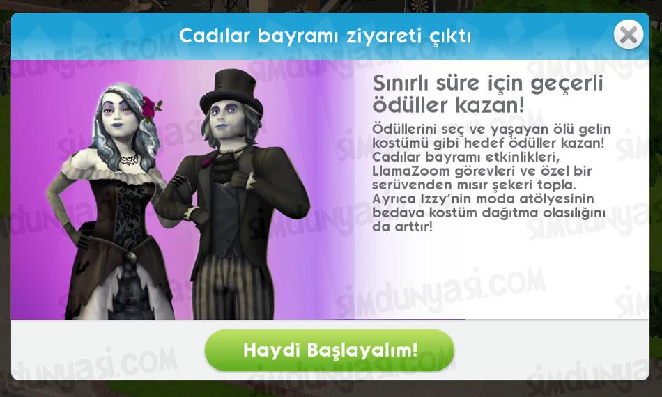 The Sims Mobile Cadılar Bayramı Ziyareti