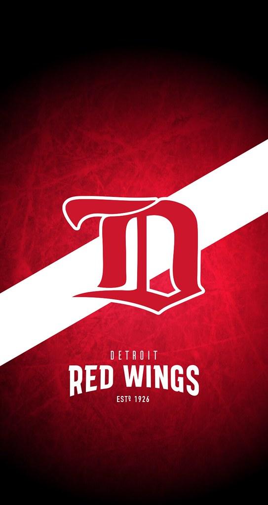 Detroit Red Wings NHL IPhone 6 7 8 Lock Screen Wallpaper