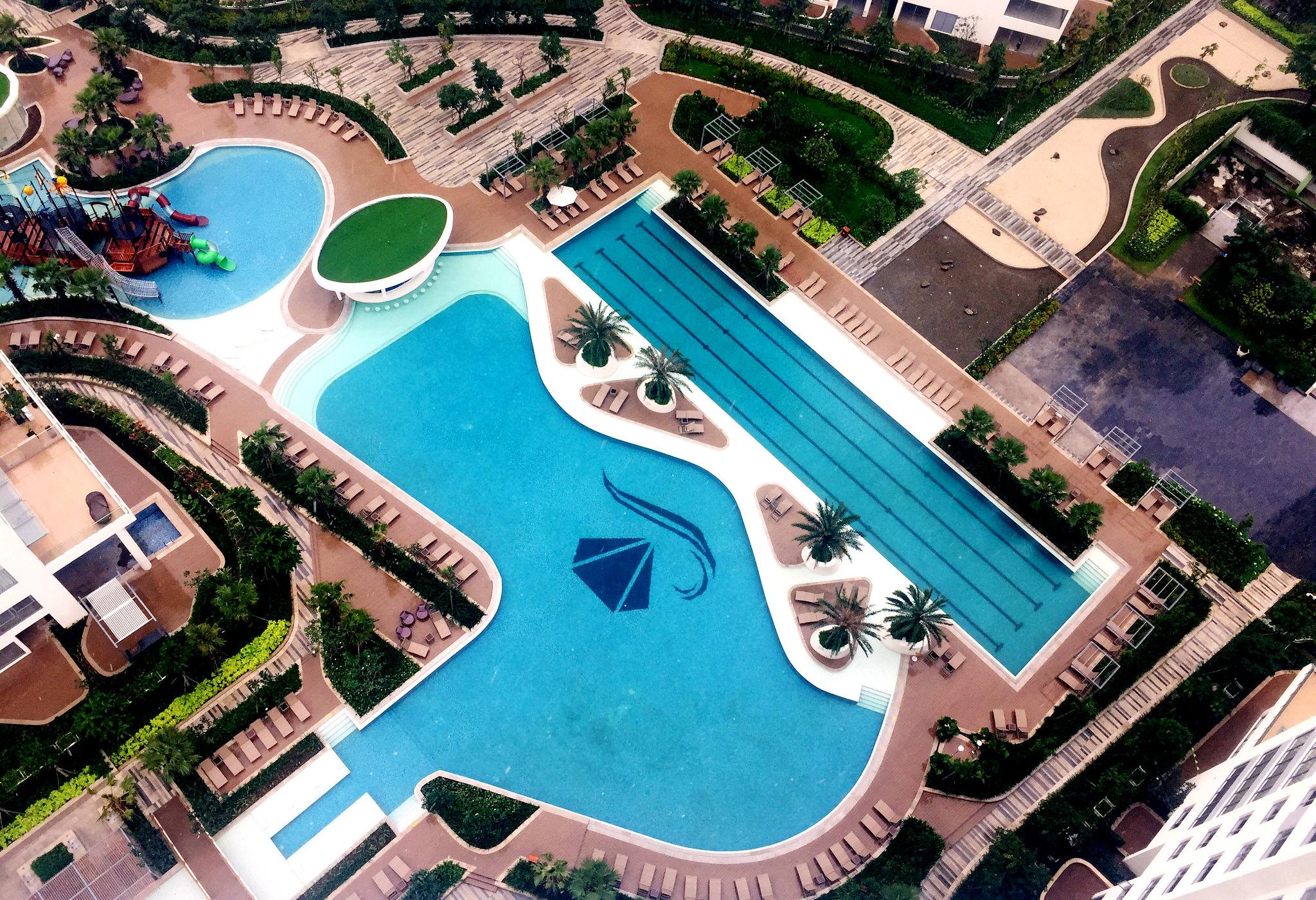 View thực tế từ căn hộ 2 phòng ngủ lầu cao Diamond Island, tòa Bahamas