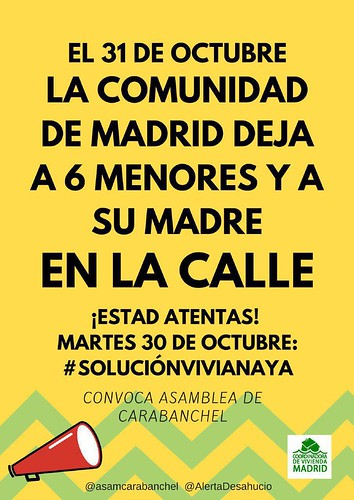 Cartel_ConvocatoriasViviana_30oct18 | by A.P. Carabanchel 15M